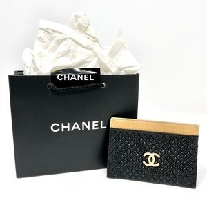💯 Authentic Chanel CC Card Case Holder
